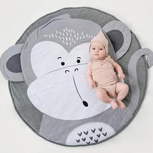 90cm Yaratıcı Fil Tasarım Bebek Çal Mat Yuvarlak Halı Pamuk Hayvan Playmat Yenidoğan Bebek Emekleme Battaniye Çocuk Odası Dekor