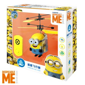 2020 Newest Minions drone RC Helicopter Aircraft Mini drone Fly Flashing helicopter Hand Control RC Toys