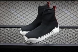 Givenchy casual shoes hococal качеств Носок progettista обувь New Mens Speed Париж Известного дизайнер кроссовки белого письмо Высокого Носок обувь повседневная обувь 40-45