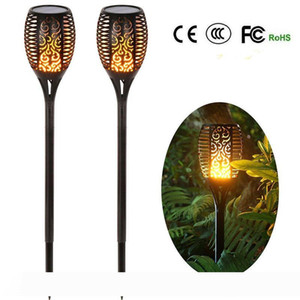 Solar light outdoor led christmas Lamp Waterproof Landsacpe Decoration Torches Garden Lights with Flame Effect lighting