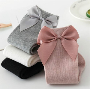 INS Kinder Kleinkind Socken Big Bow Baumwollstrümpfe Mid Level Lange Socken für Jungen Mädchen Kleinkinder Neugeborene 0-12 Monate 1-3 Jahre Kinder LY728-2