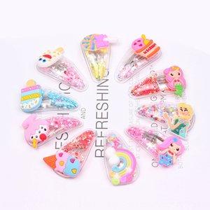 ni6KE Japanese and Korean children's hair accessories rainbow princess hairpin fashion quicksand BB clip side Clip 2 yuan boutique Accessori