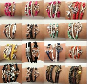 Multilayer Wrap Armband Charme inspiriert Baum des Lebens Liebe Herz Glaube Unendlichkeit Armbänder für Frauen Kinder Modeschmuck