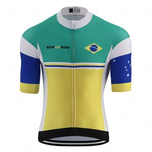 Summer New brazil national flag pro team cycling jersey men road bicycle clothes mountain bike jersey cycling wear clothing triathlon jersey