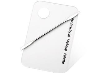 주걱 스테인레스 스틸로드 매니큐어 세트 도구를 혼합 새로운 팔레트 명확한 아크릴 네일 아트 메이크업 폴란드어 젤 파운데이션 아이 섀도우