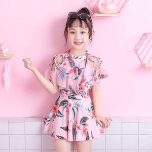 Çocuk kızın ebeveyn-çocuk tek parça elbise etek kızın bebek sevimli mayo Princess ins mayo