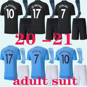 دعوى الكبار 20 21 مانشستر JESUS DE BRUYNE KUN AGUERO مدينة جيرسي لكرة القدم 2020 2021 الرجال SANE MAHREZ بالقميص لكرة القدم قميص