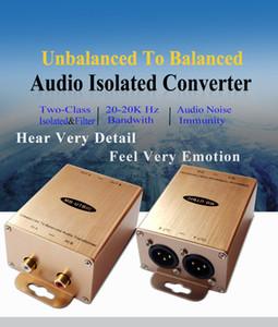 Unbalanced to Balanced Audio Isolated Converter Stereo Line Audio to Professional Adapter RCA To XLR Audio Isolator