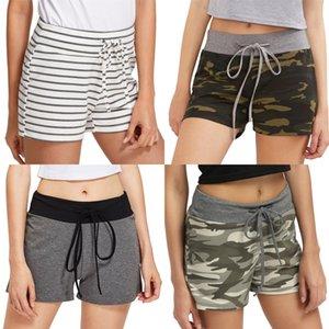 Calças largas Legged Womens favoritos mediana cintura Shorts Calças Ladies Relaexed Cacual Calças Curtas Sashes bolso Verão # 4221