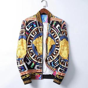 2020 Hombres medusa chaquetas de manga larga con cremallera patrón de la chaqueta de impresión de la moda para hombre Slim Fit rompevientos antumn invierno Outdoorwear Coats