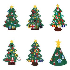 Felt Arbre de Noël bricolage feutre Handwork Arbre de Noël Enfants Jouets Cadeau de Noël artificiel Arbre Décoration murale Bébé éducation cadeau