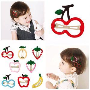 Fruit Baby-Haar-Clips für Frauen-Mädchen-Haar-Zubehör Kinder Cartoon Hairpin Kinder Barrette Ananas Side BB Clip