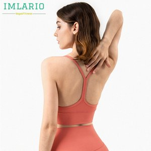 IMLARIO Y-racer geschmeidigen Sports Workout Bra Licht Unterstützung Gym Yoga Bras Longline Frauen Sportoberteil mit herausnehmbaren Pads IY5U #