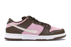 Dunk Low SB Stussy Cherry Pink buon mercato di vendita con la scatola 2020 buoni uomini donne scarpe casual memorizzare US5.5-US11