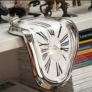 Mur surréel Fondu Twisted Clock Salvador Dali Styled Amazing Clock Décoration intérieure Cadeaux