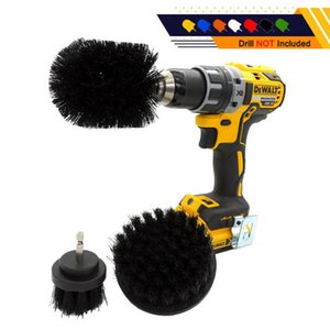 3pcs Set Power Scrub Brush Drill Attachment Cleaning Scrubber Kit 2 3.5 4Inch Electric Drill Brush Car Accessories