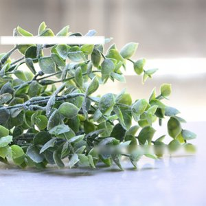 7 Branches bouquet Artificial Eucalyptus Succulent Plant DIY Winter Fake Leaves White Green Wedding Home Decoration Craft Flower