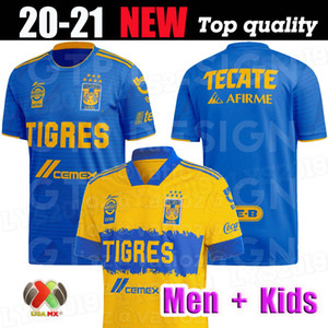 타이거스 UANL 7 별 축구 유니폼 홈 멀리 (20) (21) 멕시코 클럽 호랑이 노란색 GIGNAC 바 가스 H. 아얄라 SOSA 유니폼 축구 셔츠