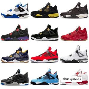 4 4S Gum Cactus Basketball Jack Trovão Black Cat Travis Scott escolhe o dia Toro Bravo Mens Motor Sport Tênis Designer Shoes