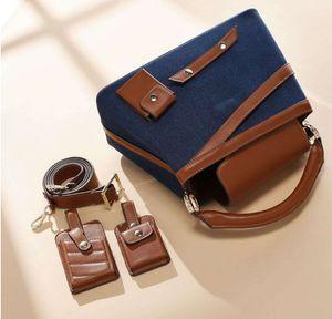 3PS Women Bags Set Luxury Crocodile Female Handbags PU Leather Shoulder Bags Composite Bags Messenger