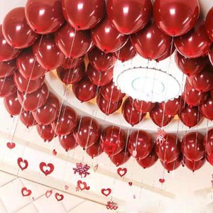 The New Hot Sale High Quality Double Layer Dark Red Balloons Wedding Decoration Balloon Happy Birthday Party Helium balloon