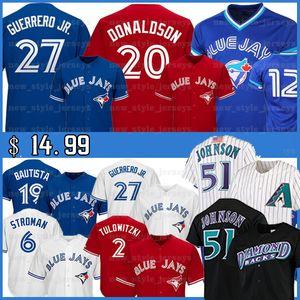 51 Randy Johnson Jersey 2 Troy TulowitzkiHombres 27 Vladimir Guerrero Jr. José Bautista 19 29 20 Joe Carter Josh Donaldson jerseys del béisbol