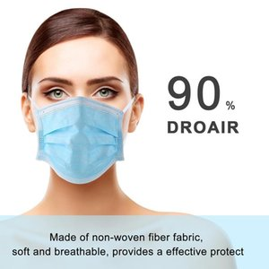 50pcs Lot Disposable Anti Dust Mask Mouth 3 Layer Non Woven Dust Blue Face Mask 7339044 Fast Shipping