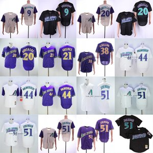 Arizona 51 Randy Johnson Diamondbacks 20 Luis Gonzalez 44 Paul Goldschmidt 38 Curt Schilling 9 Matt Williams Cheap Baseball Size M-3XL 054