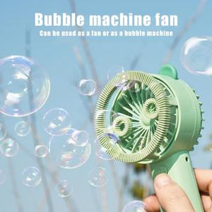 Burbuja mini ventilador portable plegable Ventilador de mano con luz de noche en forma de burbuja Fan Party pequeño favor