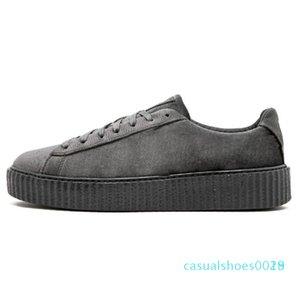 1Discounts PM Rihanna Fenty Creeper 2019 de plataforma clássico calçados casuais Velvet Rachado Couro Suede Homens Mulheres Moda Designer Sneakers c18
