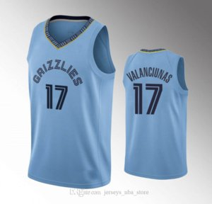 MemphisGrizzliesMen Ja Morant Jonas Valanciunas Brandon Clarke 2020 StatementNBA Custom Blue Jersey