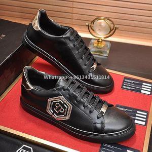 Casuales para hombre zapatos transpirables Pisos moda con la caja Calzado Scarpe Da Uomo Men Lo-Top Sneakers Hexágono Tipo de moda de lujo de la gota libre