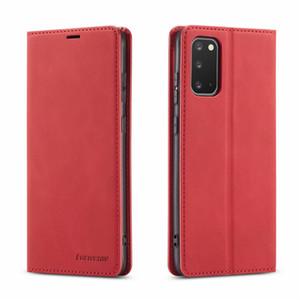 Luxo Magnetic Virar carteira de couro capa para Samsung Galaxy S20 Ultra S10 S9 S8 Além disso S7 Borda Nota 20 10 Pro tampa traseira