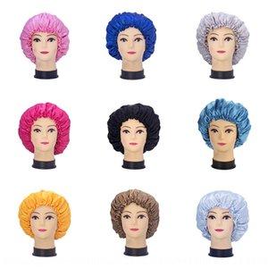 Satin hat wig set double layer satin Wig beauty hat sleeping beauty perm cap plain color chemotherapy cap haircap