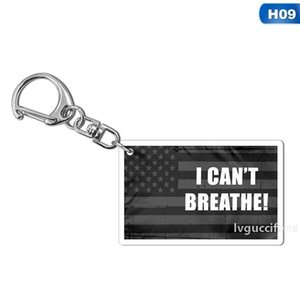 13style I can t Breathe KeyChain Letter Print Floyd Key Ring Fashion Acrylic Car Key Chain Pendant Jewelry Gifts Party Favor GGA3449-5