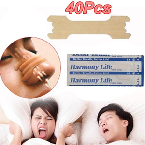 40pcs nasale Bandes d'ronflements Correctifs mieux dormir droit de l'aide d'arrêt Snore mieux Respirez Améliorer les soins de santé de sommeil