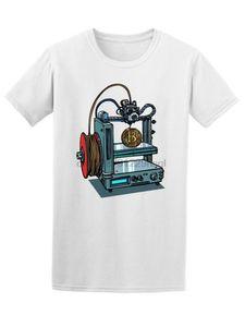 Fabrication imprimante 3d Bitcoin hommes T-shirt classique -Image par T-shirt Fashion