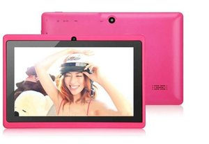 Dual Camera Q88 A33 Quad Core Tablet PC Flashlight 7 Inch 512MB 4GB Android 4.4 Kitkat Wifi Allwinner Colorful