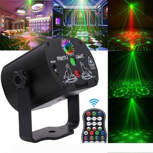 60 Patterns RGB LED luce della discoteca del USB 5V di ricarica proiettore laser RGB della lampada di illuminazione della fase spettacolo per il partito domestico KTV DJ Dance Floor