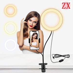 Dimmable LED Selfie Ring Light مع ترايبود USB Selfie الخفيفة الدائري مصباح كبير التصوير الفوتوغرافي ringlight ل ماكياج فيديو حية استوديو