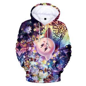 Heiße Verkaufs-3D-Anime Kirby Hoodies nette Karikatur-Spiel-Sweatshirt-3D-Printing Jacken Männer Frauen Unisex Teenager-Hip Hop Cool Coat