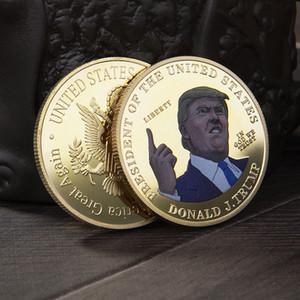 Bunte Trump Speech Gedenkmünze Amerika Präsident Sammlung Münzen Crafts Trump Avatar Keep America Große Münzen AHE294