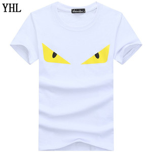 Les nouveaux hommes d'été marque T-shirts Tops manches courtes T-shirt homme grande taille 5XL Imprimé hommes en gros T-shirt en coton T-shirt C-1