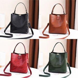 Messenger Bag Women Bucket Shoulder Bag Large Capacity Vintage Matte PU Leather Lady Handbag Luxury Designer Bolsos Mujer Black MX200603#721