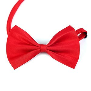 Adjustable Pet Dog Bows Tie Neck Accessory Necklace Collar Puppy Bright Color Pet Bows Dog Apparel Pet Supplies Mixed Colors IIA277