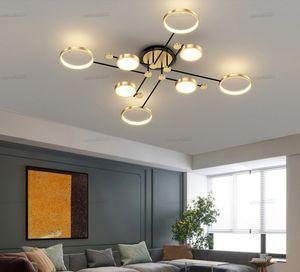 Modern Luxury Led Chandelier Nordic Lamps Fixtures for Living Room Bedroom Dining Room Kitchen 4 6 8 Heads Chandeliers Ceiling Lighting