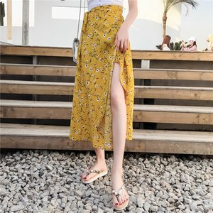 In One Summer Long Chiffon spiaggia Chip Gonne Femminile Wrap Ins Super Fire Flower Gonna con Chic