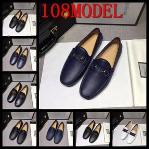 18ss Men Loafers Shoes Male luxurious Leather Boat shoe Man 2020 New Spring Summer Men Shoes Comfy Slip-on Fashion Men Casual Shoes us6-12