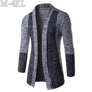 2019 Spring New Sweater Men Long Sleeve Patchwork Thin Knitted Cardigan Men High Quality Casual Men Sweaters Slim Knitwear Coat CX200730