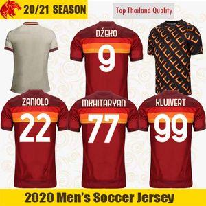20 21 AS Roma camisetas de fútbol SCHICK 2020 2021 Roma niños hombre DZEKO Camiseta de fútbol CENGIZ UNDER KOLAROV corto y Larga Camiseta